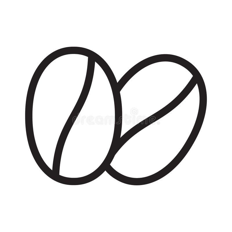 De koffiebonen verdunnen lijn vectorpictogram royalty-vrije illustratie