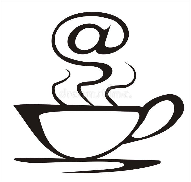 De koffieconcept van Internet stock illustratie