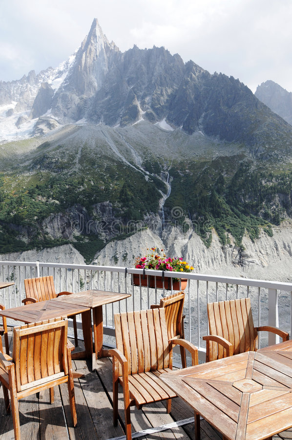 De koffieterras van de berg royalty-vrije stock afbeelding