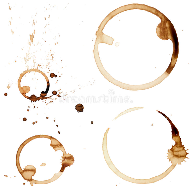 De koffievlek belt Vector royalty-vrije stock afbeelding
