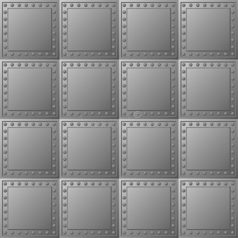 De kogelvrije voering van het staal - vectortextuur royalty-vrije illustratie