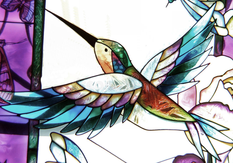 De Kolibrie van het glas stock illustratie