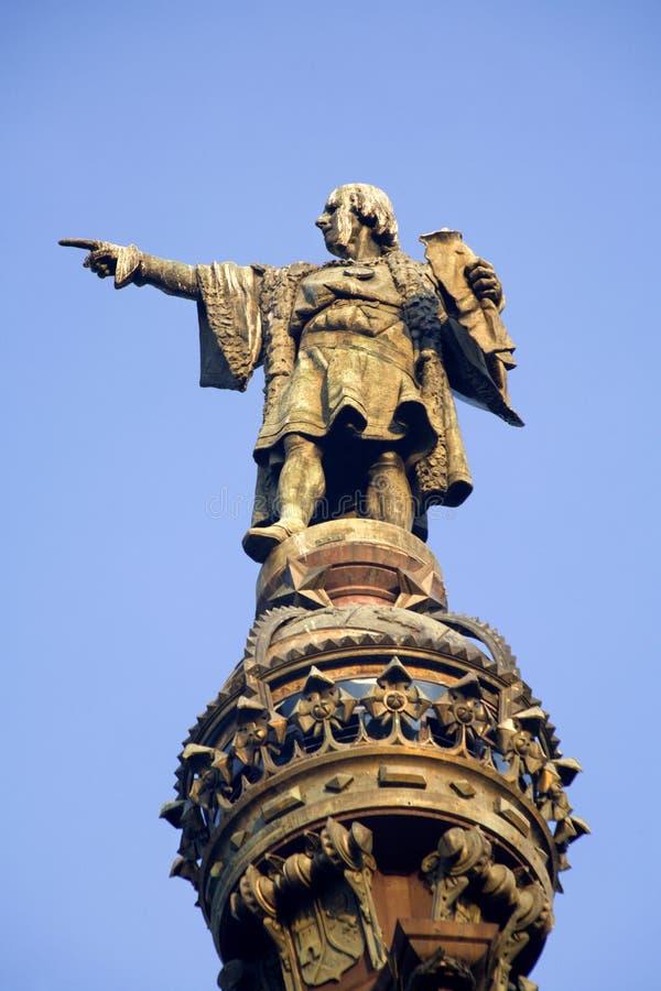 De kolom van Barcelona - van Columbus stock fotografie