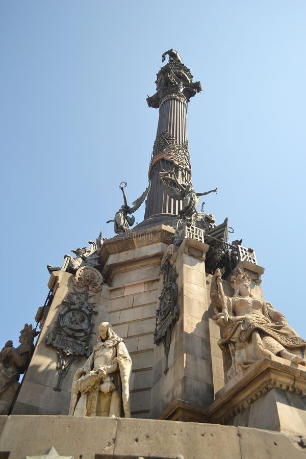 De Kolom van Columbus in Barcelona. royalty-vrije stock foto