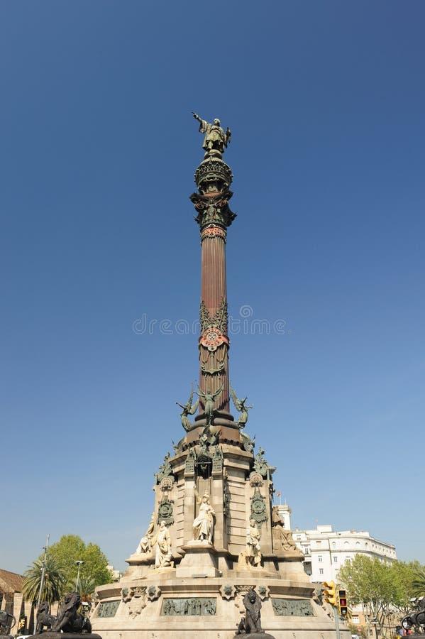 De Kolom van Columbus, Barcelona Spanje royalty-vrije stock fotografie