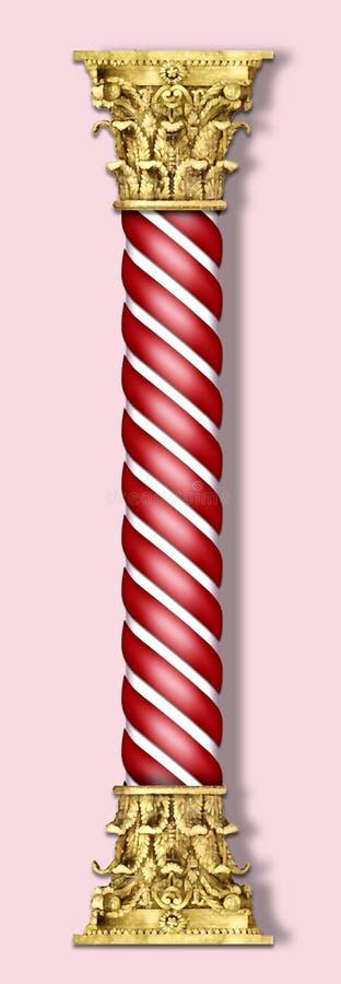 De kolom van Kerstmis in rood royalty-vrije illustratie