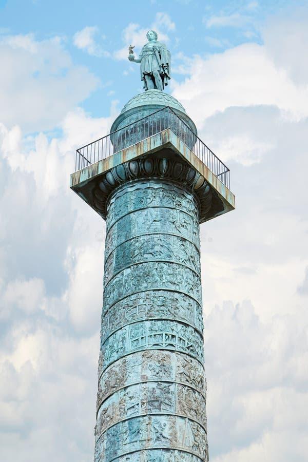 De kolom van plaatsvendome in Parijs royalty-vrije stock fotografie