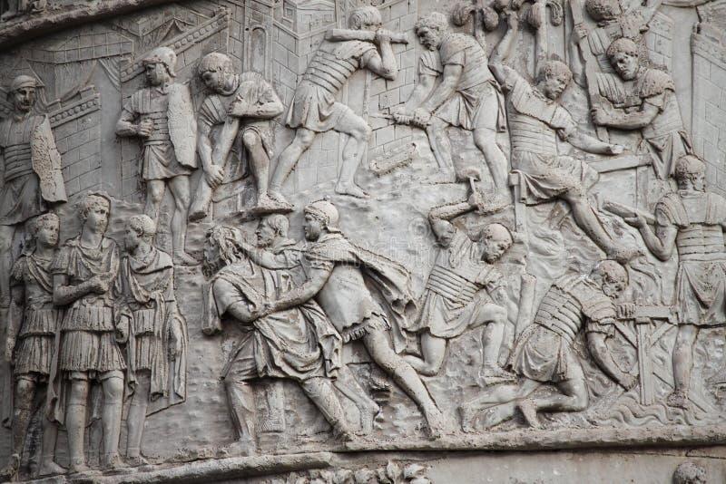 De kolom van Trajan stock fotografie