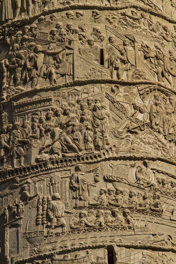De kolom van Trajan stock afbeelding