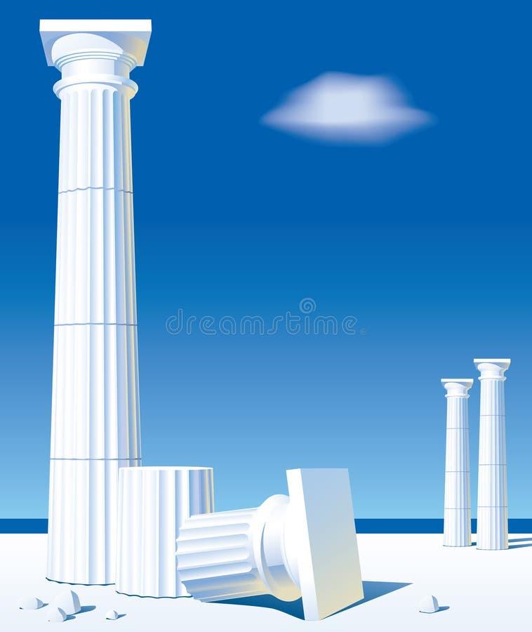De kolommen van Antic stock illustratie