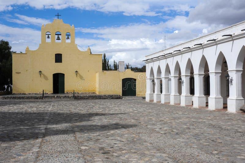 De koloniale kerk van San Jose in Cachi stock foto
