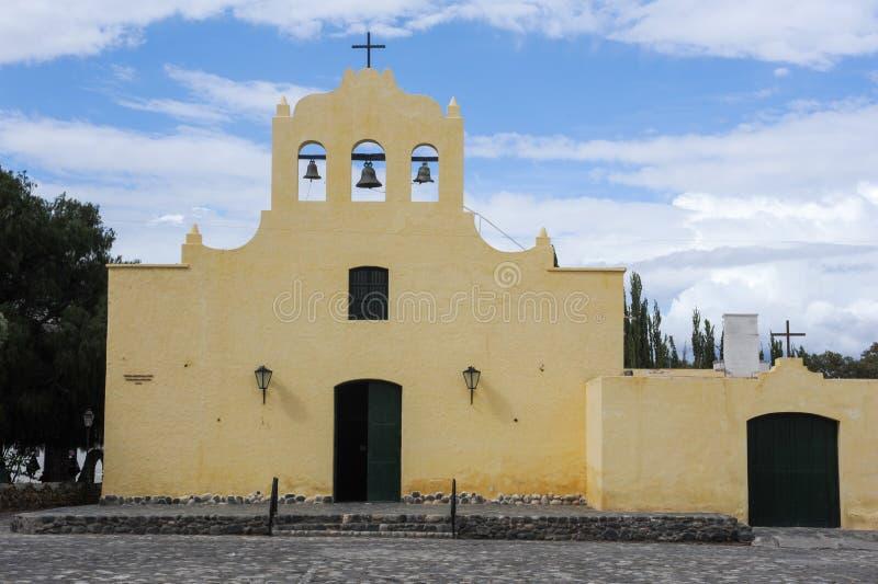 De koloniale kerk van San Jose in Cachi royalty-vrije stock afbeelding
