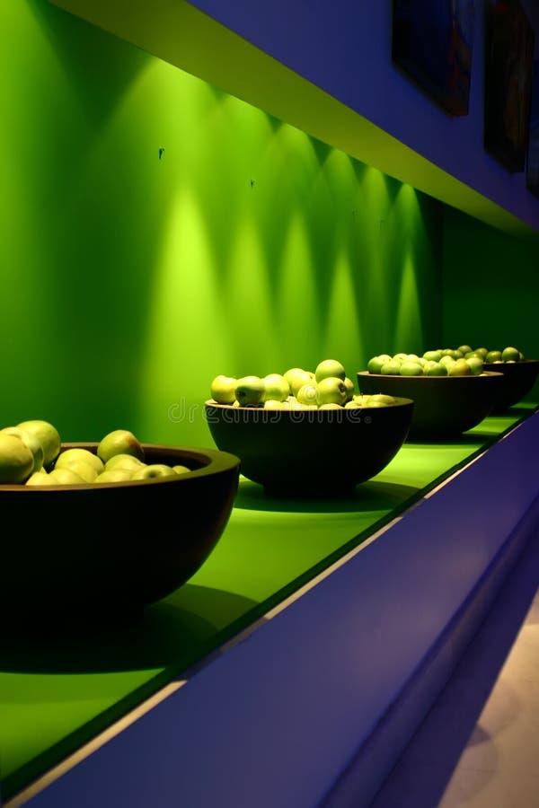 De kom binnenlands perspectief van de appel royalty-vrije stock afbeelding