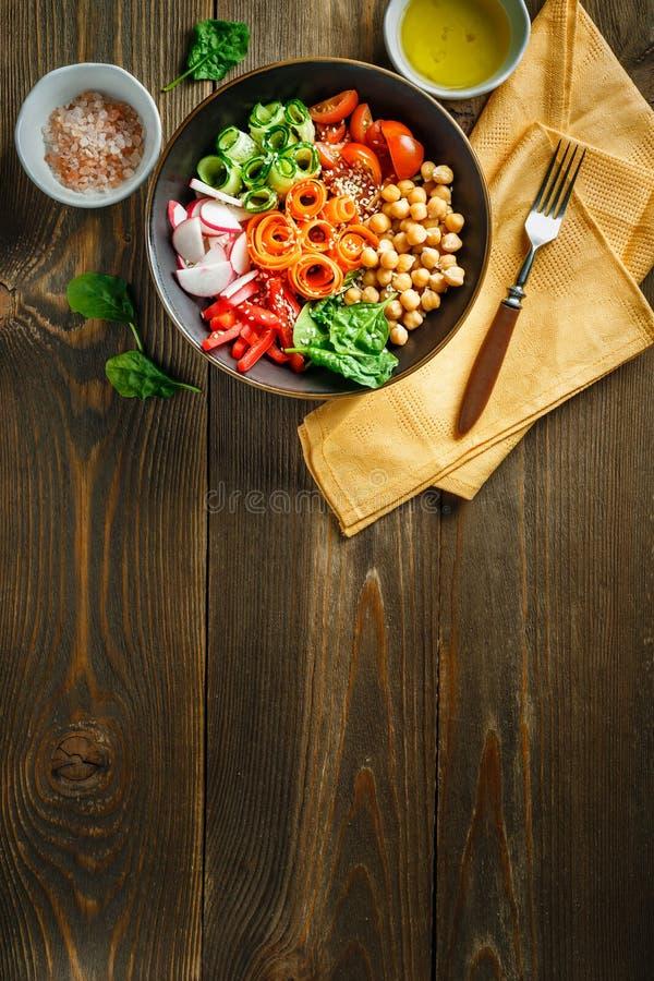 De kom van Boedha, gezonde en evenwichtige voedsel royalty-vrije stock foto's