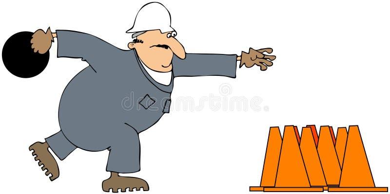 De kom van de bouw stock illustratie