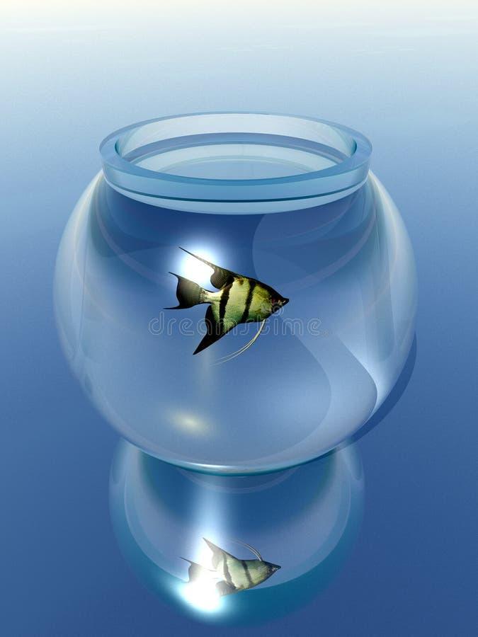 De Kom van de goudvis stock illustratie