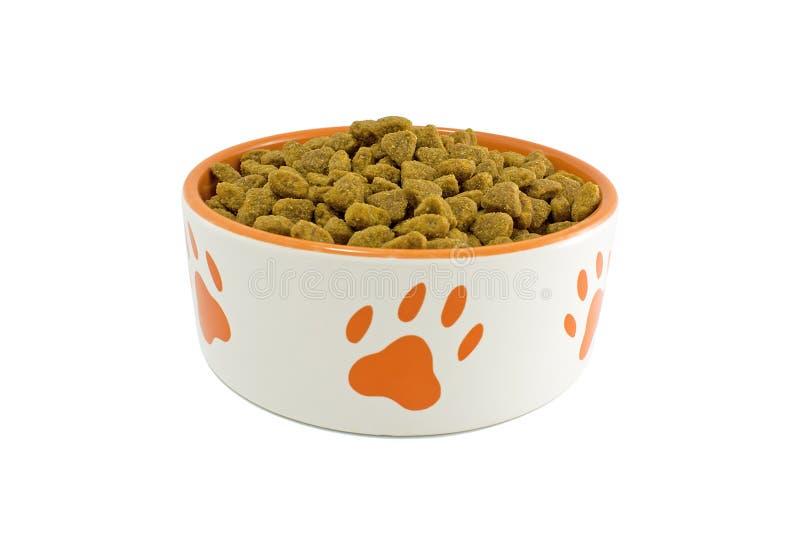 De kom van de hond met voedsel voor huisdieren royalty-vrije stock fotografie