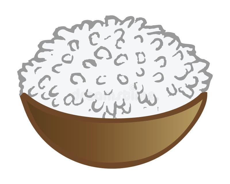 De kom van de rijst vector illustratie