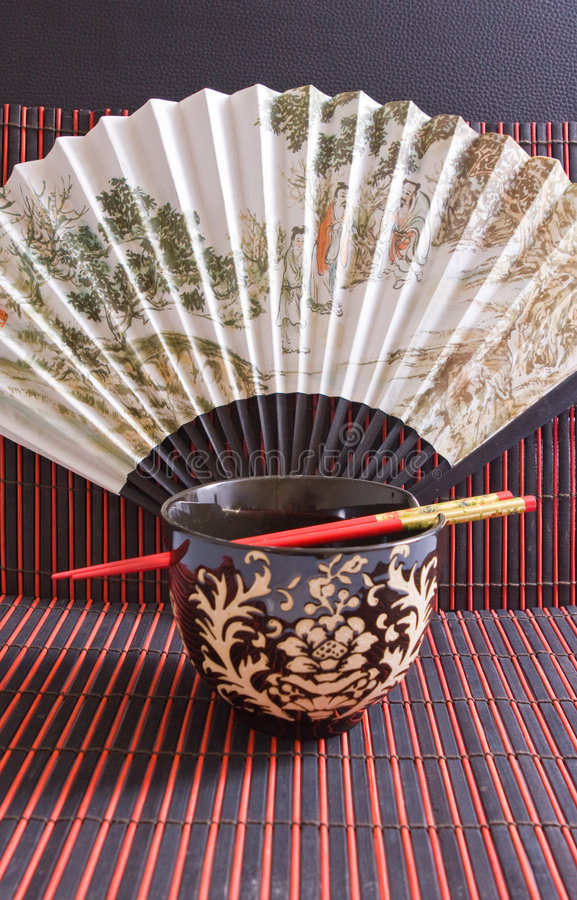 De kom van de rijst royalty-vrije stock afbeeldingen