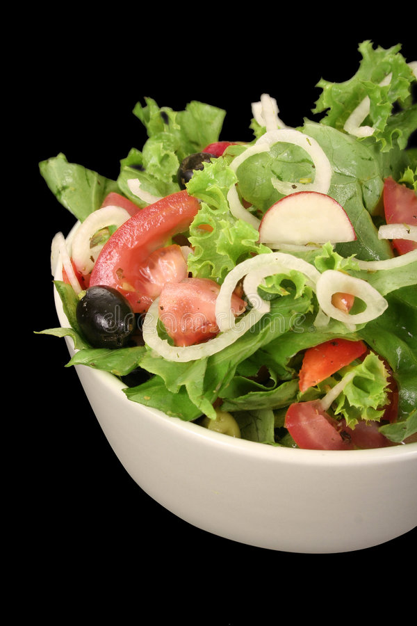 De kom van de salade royalty-vrije stock afbeeldingen