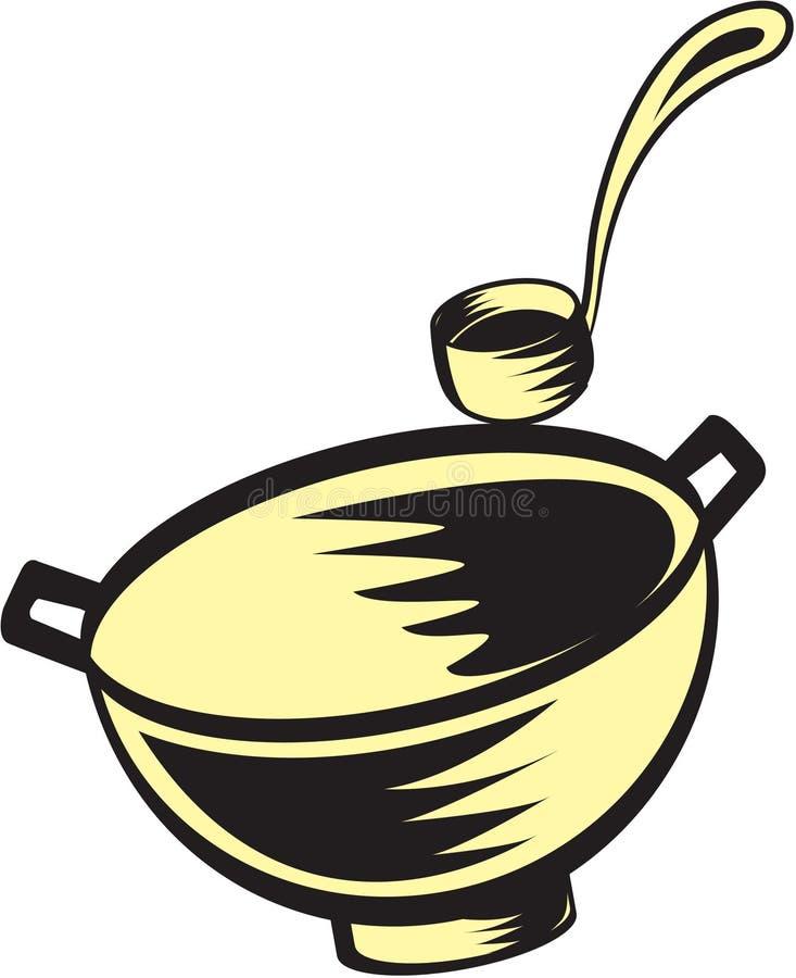 De kom van de soep stock illustratie