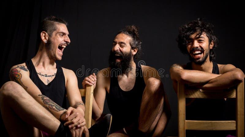 De komedie toont bij het circus royalty-vrije stock fotografie