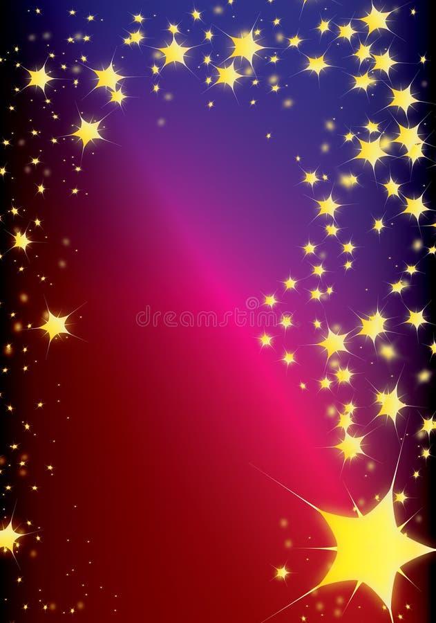 De komeet van Kerstmis vector illustratie