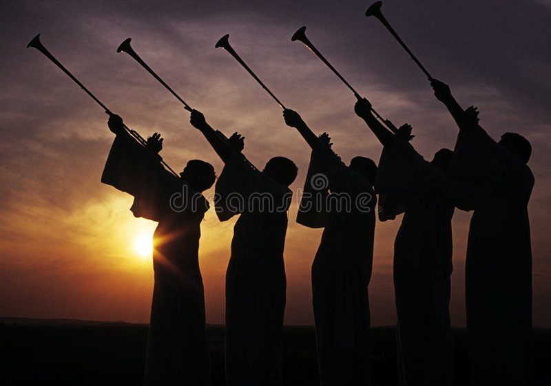 De komst van de apocalyps stock foto