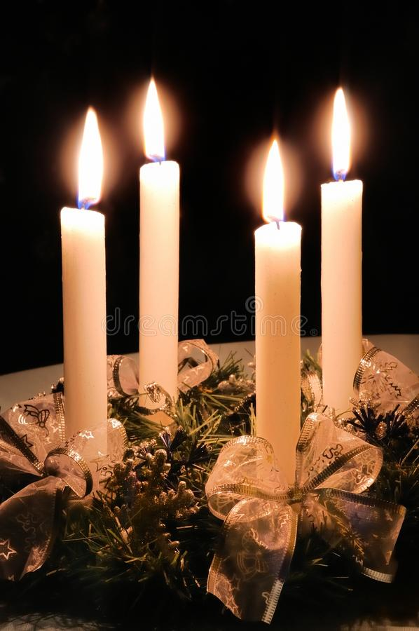 De komstkroon van Kerstmis royalty-vrije stock foto's