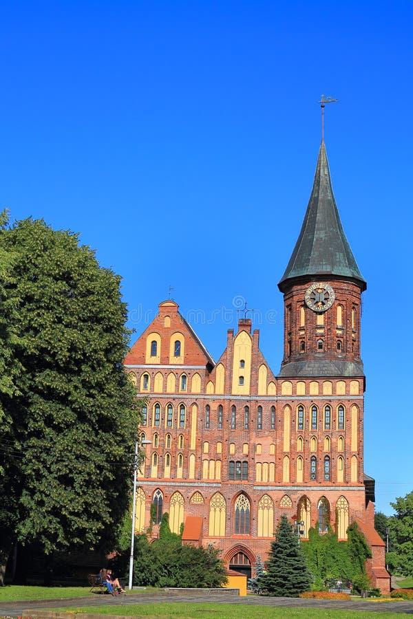 De Konigsberg-kathedraal in stijl van de gotische die Oostzee wordt geconstrueerd stock afbeeldingen