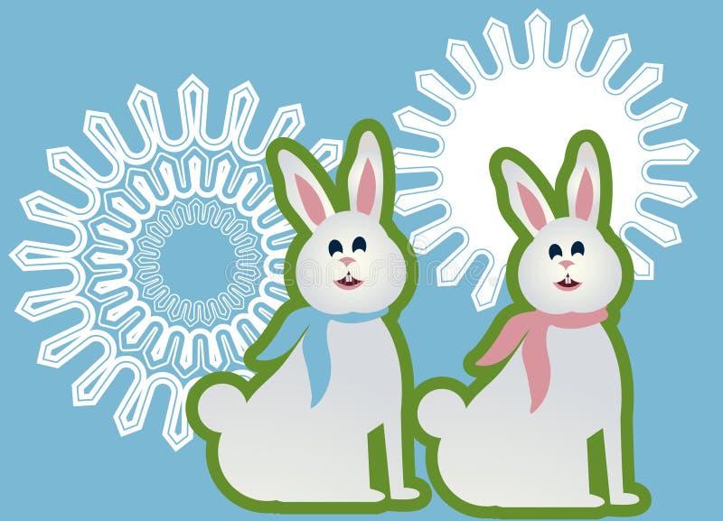 De konijntjes van vooruitstekende tandpasen royalty-vrije illustratie