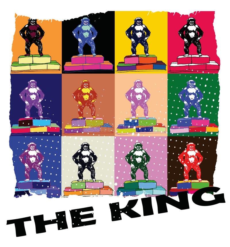 De koning royalty-vrije illustratie