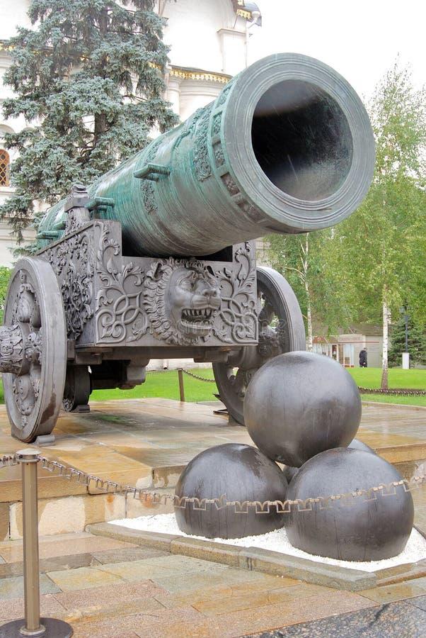 De Koning Cannon in Moskou het Kremlin De Plaats van de Erfenis van de Wereld van Unesco stock afbeelding