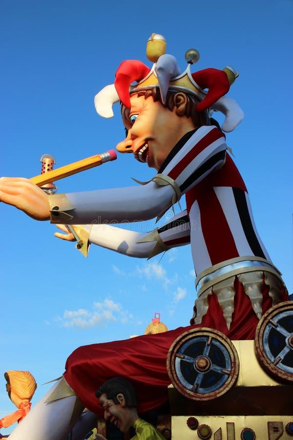 De Koning - Carnaval van Nice 2016 stock foto's