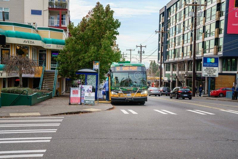 De Koning County Metro Bus van Seattle stock foto's