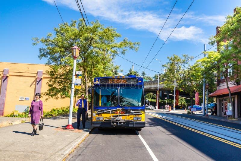 De Koning County Metro Bus van Seattle stock afbeeldingen