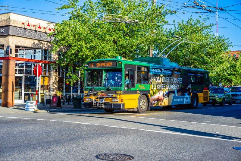De Koning County Metro Bus van Seattle royalty-vrije stock foto's