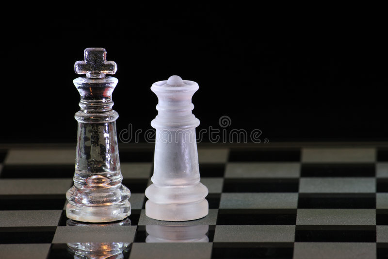 De Koning en de Koningin van het schaak royalty-vrije stock afbeelding