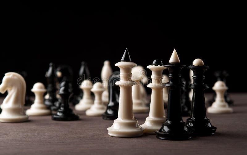 De koning en de koninginnen van het schaak royalty-vrije stock foto