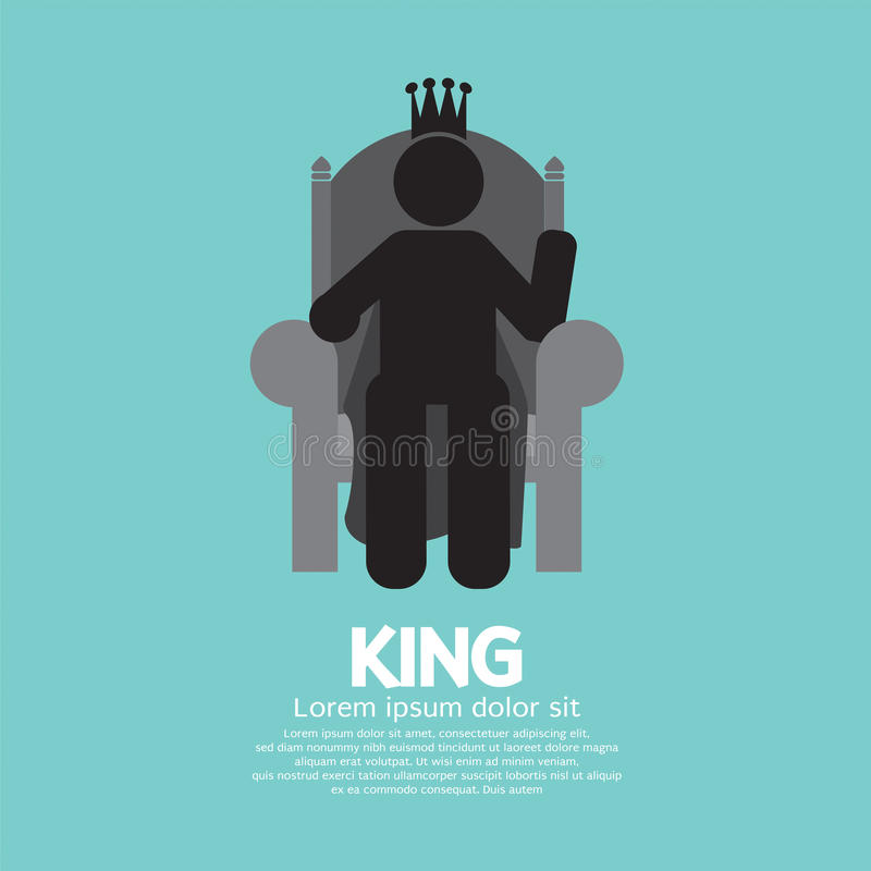 De Koning With His Throne vector illustratie