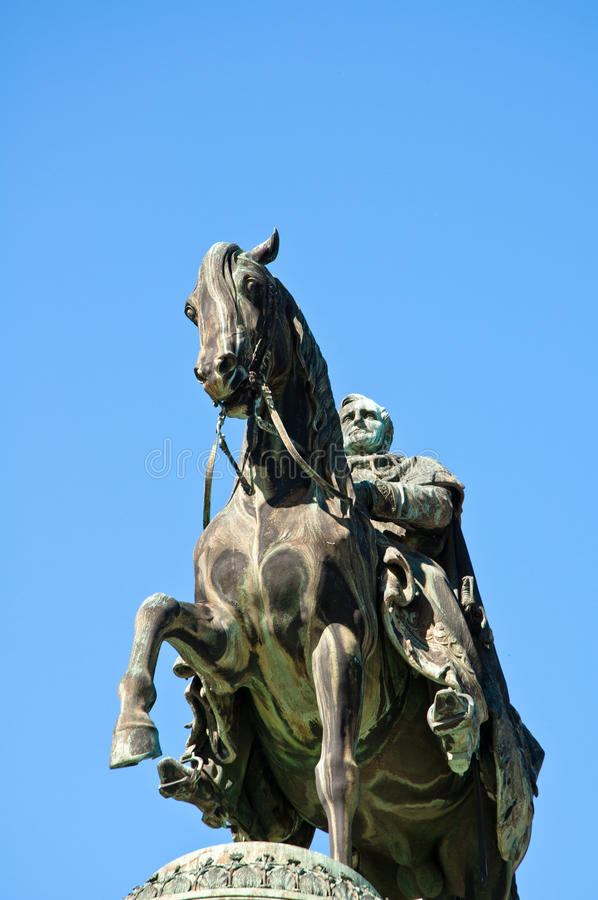 De Koning John van het standbeeld van Saksen stock foto's