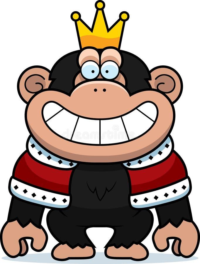 De Koning van de beeldverhaalchimpansee stock illustratie