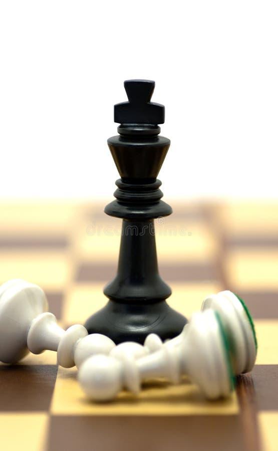 De Koning van het schaak royalty-vrije stock foto