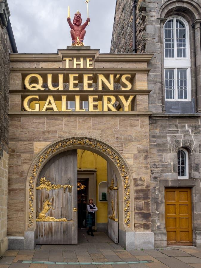 De Koningin` s Galerij, Holyrood-Paleis royalty-vrije stock afbeelding