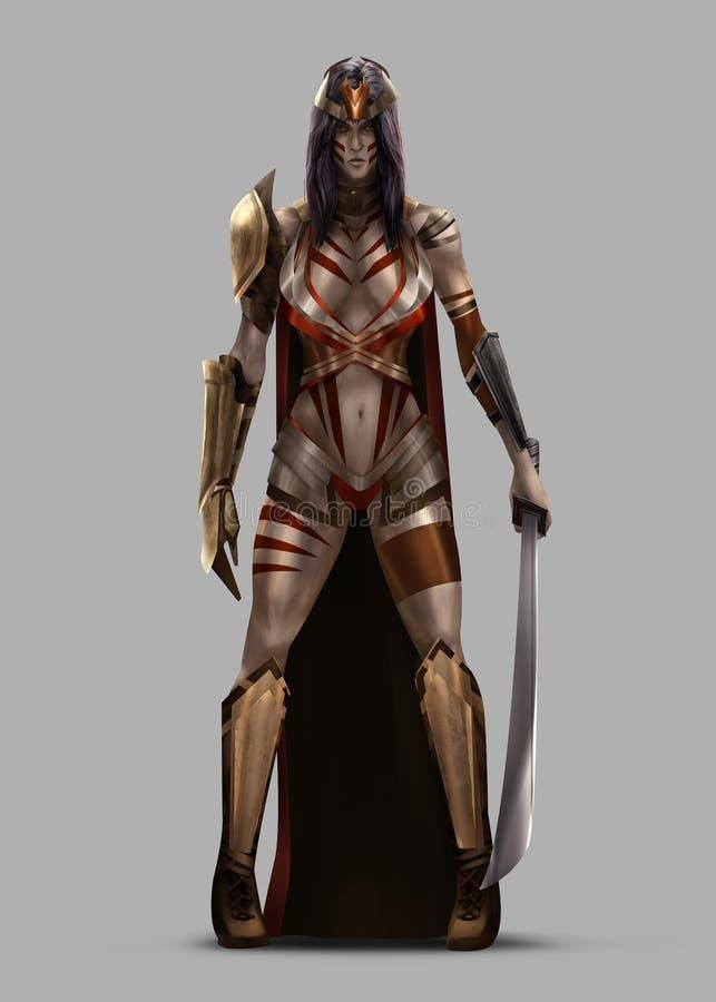De Koningin van Amazonië vector illustratie