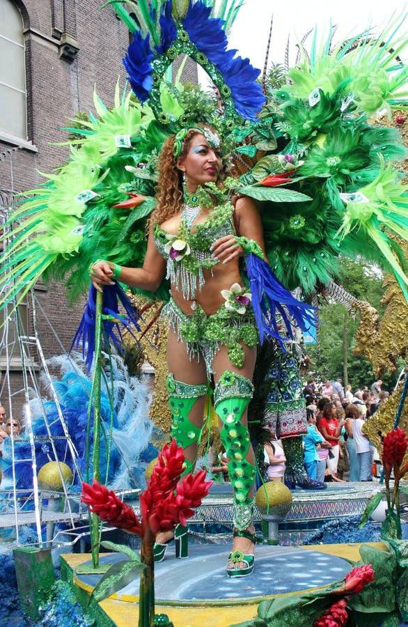 De Koningin van Carnaval stock foto's