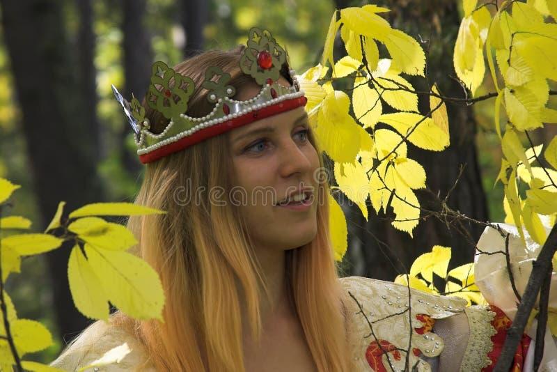 De koningin van de herfst stock foto