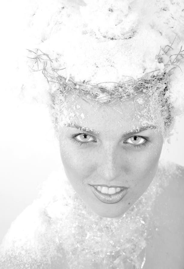 De koningin van de sneeuw stock afbeeldingen