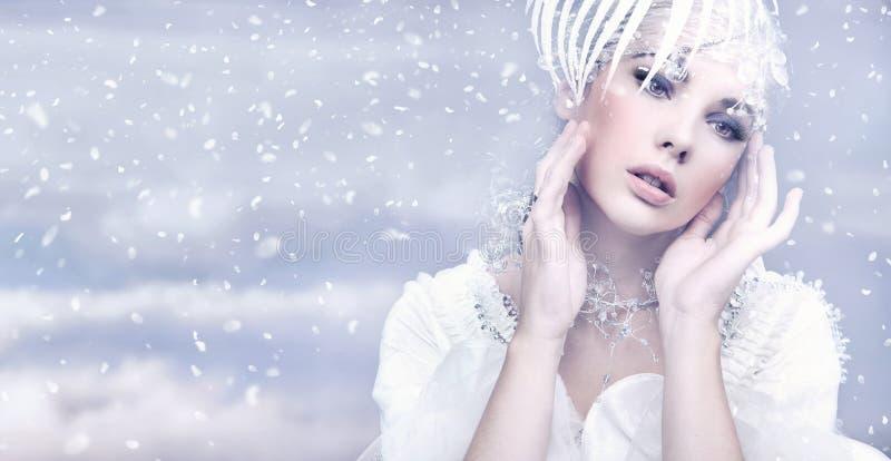 De Koningin van de winter royalty-vrije stock foto's