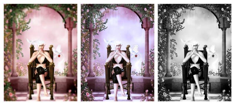 De koningin van het dromenland royalty-vrije illustratie